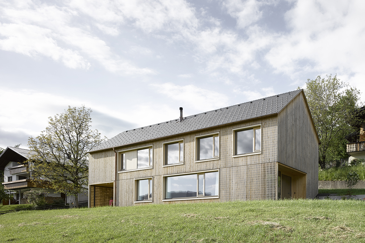 Rectangular wooden house