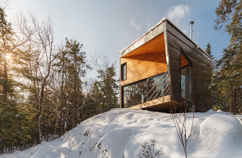 House on a slope and a concrete base