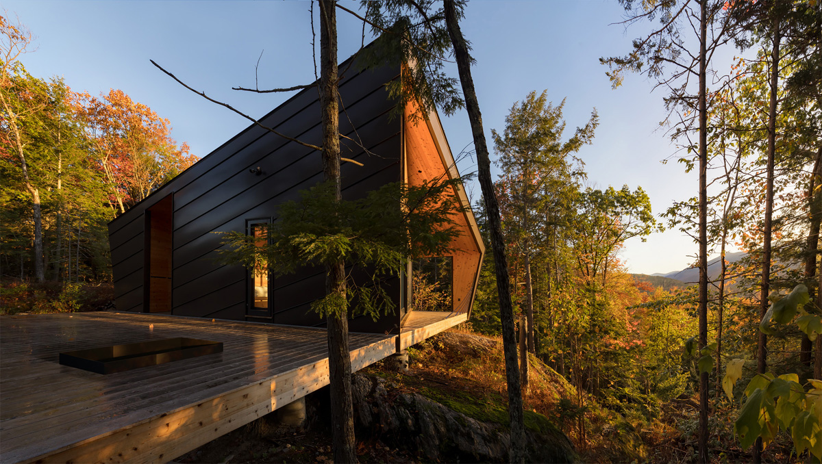 Cabin on a slope