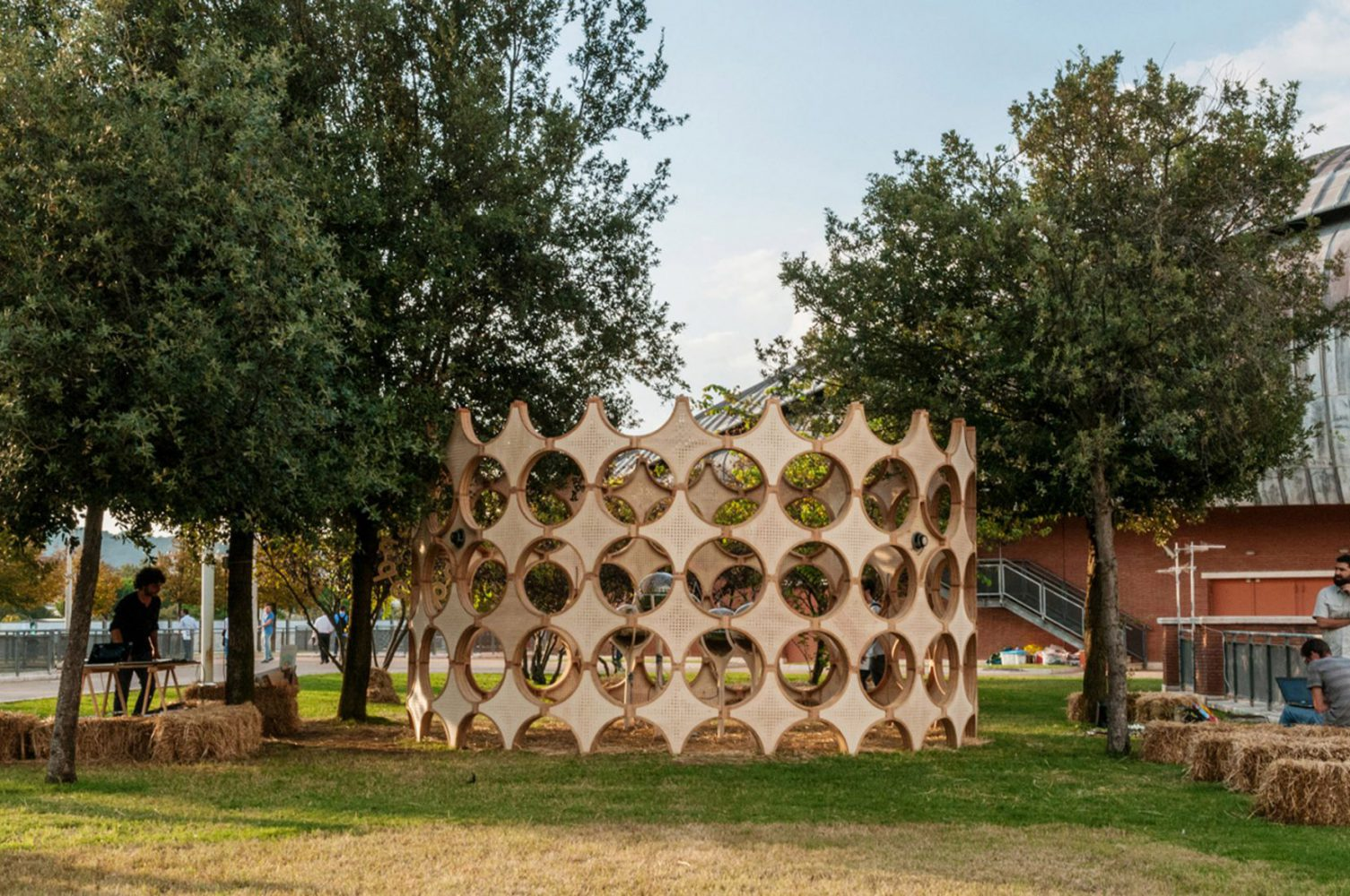Insect pavilion in the open air