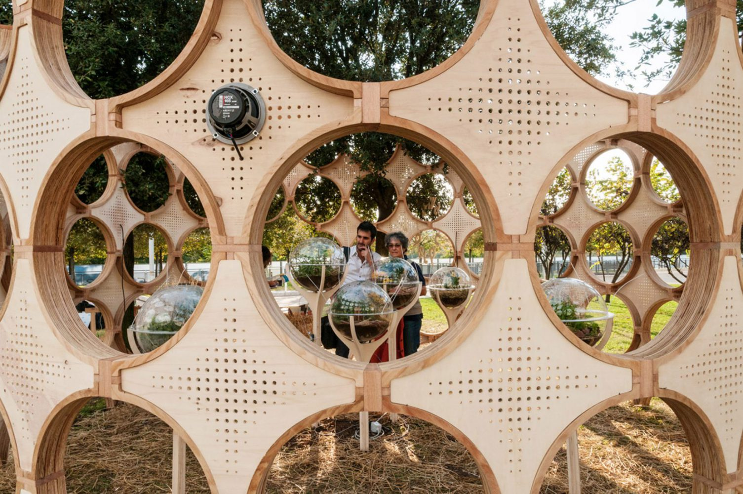 Circular elements for a pavilion