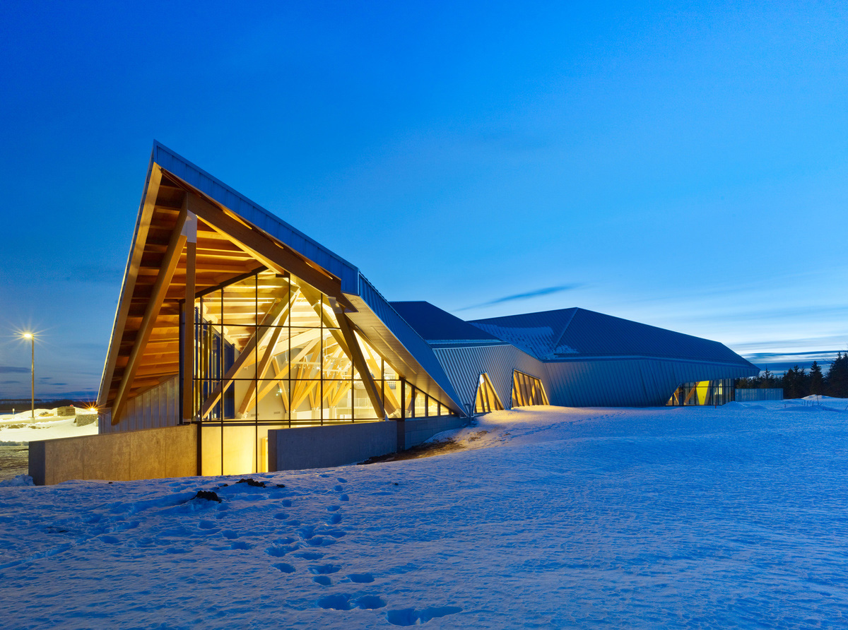 Wooden structure museum in canada