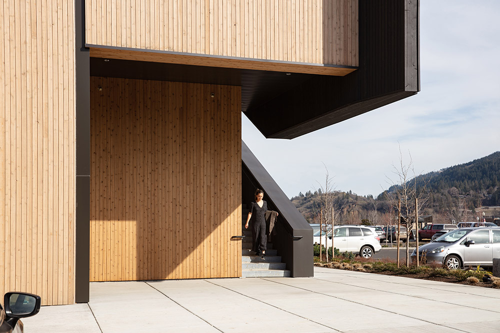 Multifunctional wooden center
