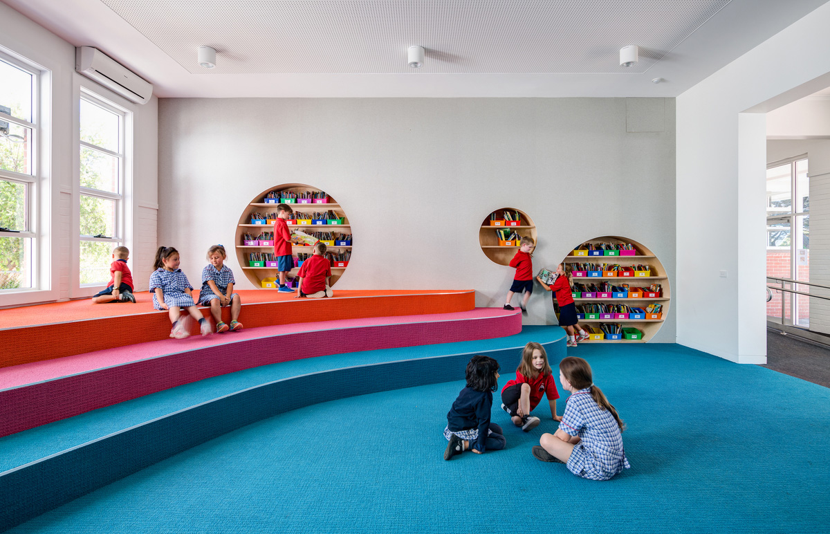 Primary school with a colorful interior