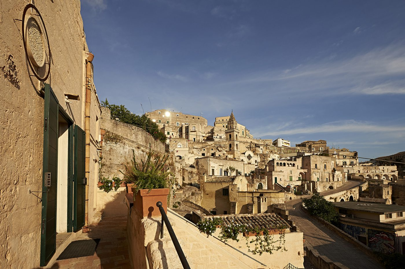 View of the stones of Matera