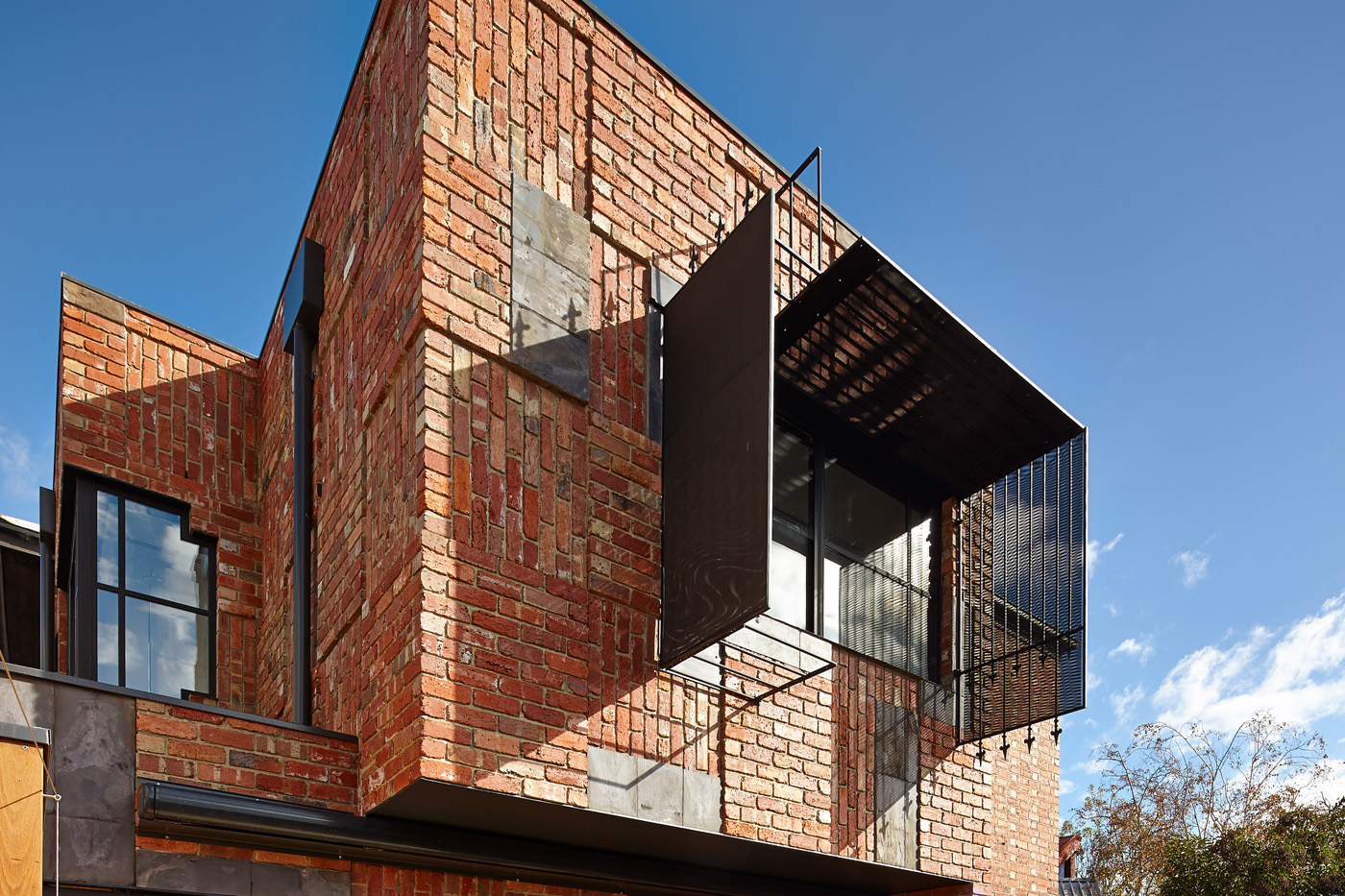 brick and metal house