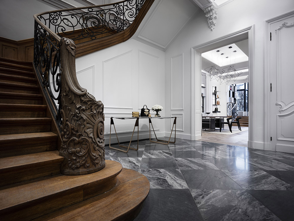 Boutique interior in a 19th century mansion