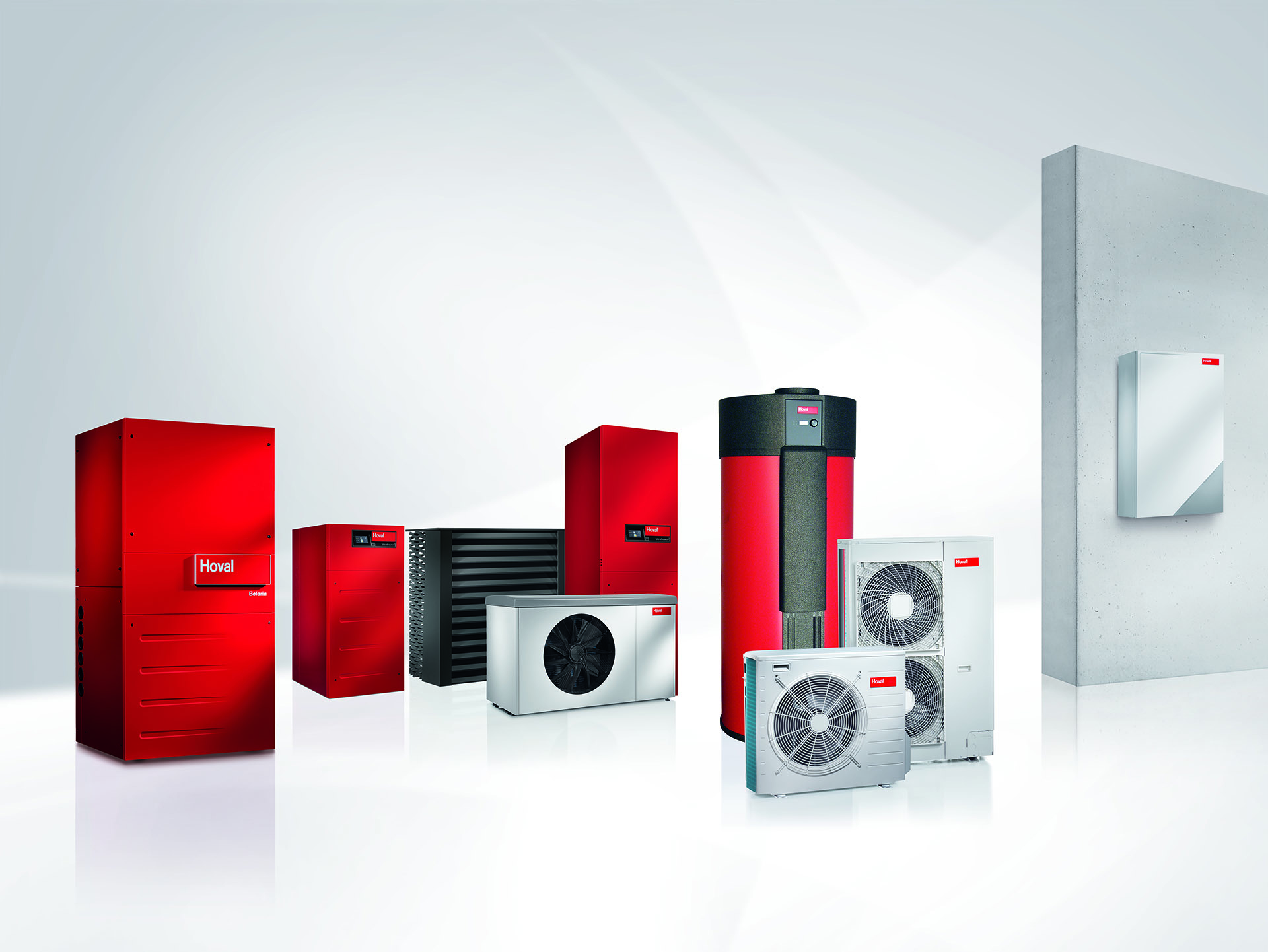 Devices for Hoval heat pump system