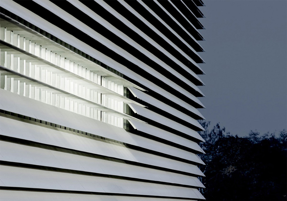 façade cladding with equitone etex external slats