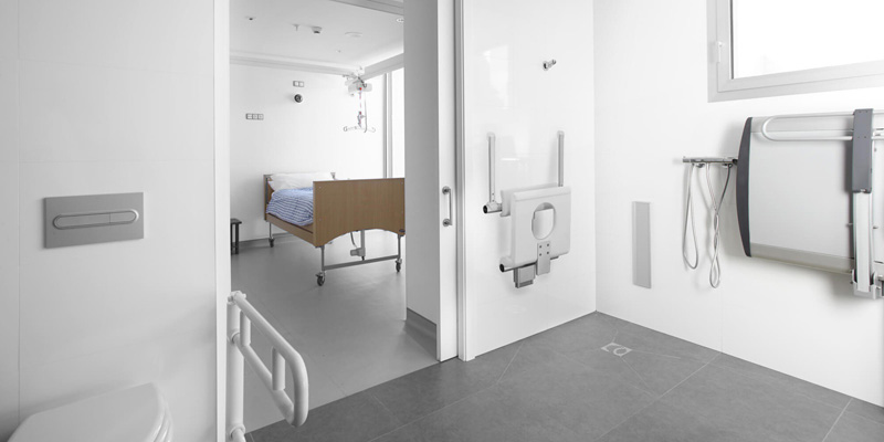 Door with jambs with special Disability Care counterframe