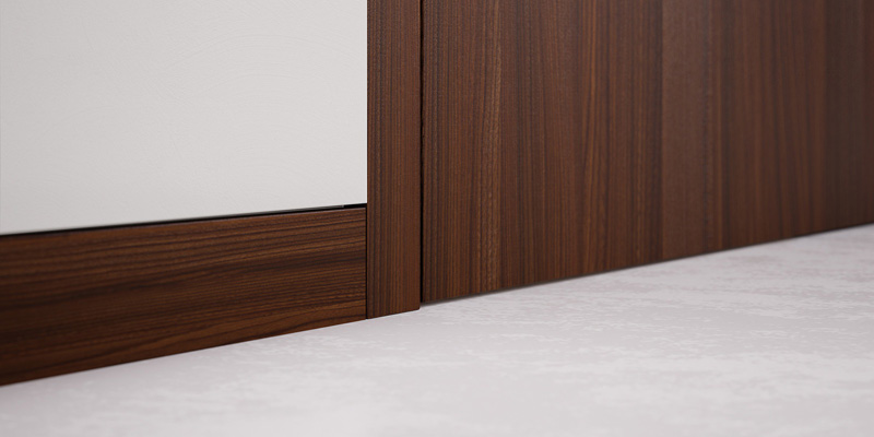 Eclisse wall flush skirting board