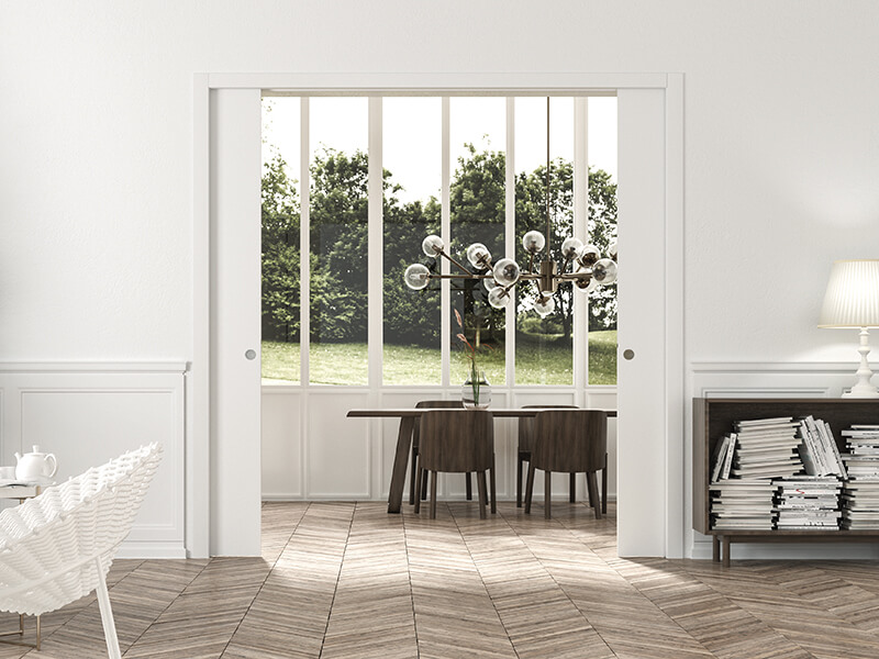 Sliding doors with Eclisse jambs