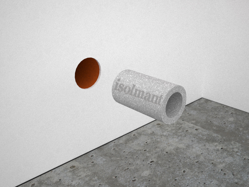 Isolmant facade pipe insulation