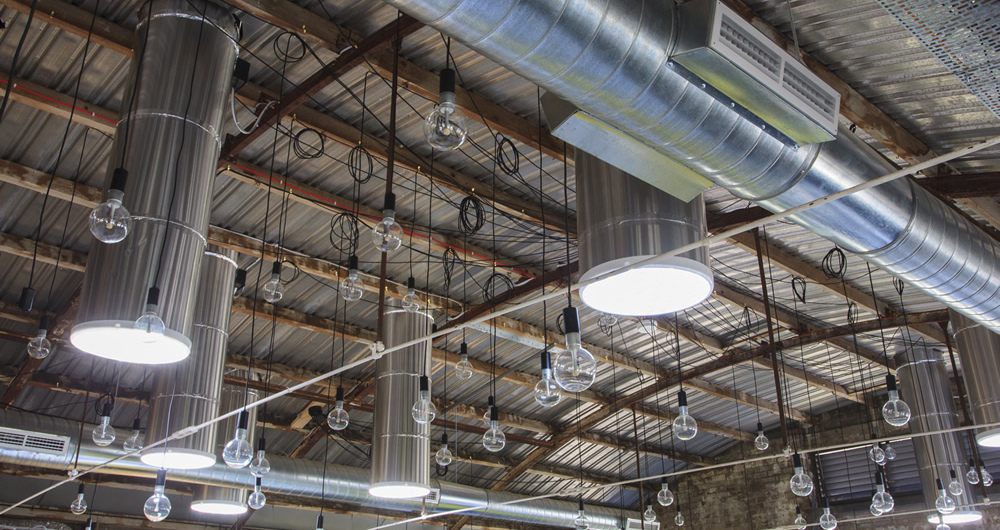 SolaMaster solar diffusers in industrial building