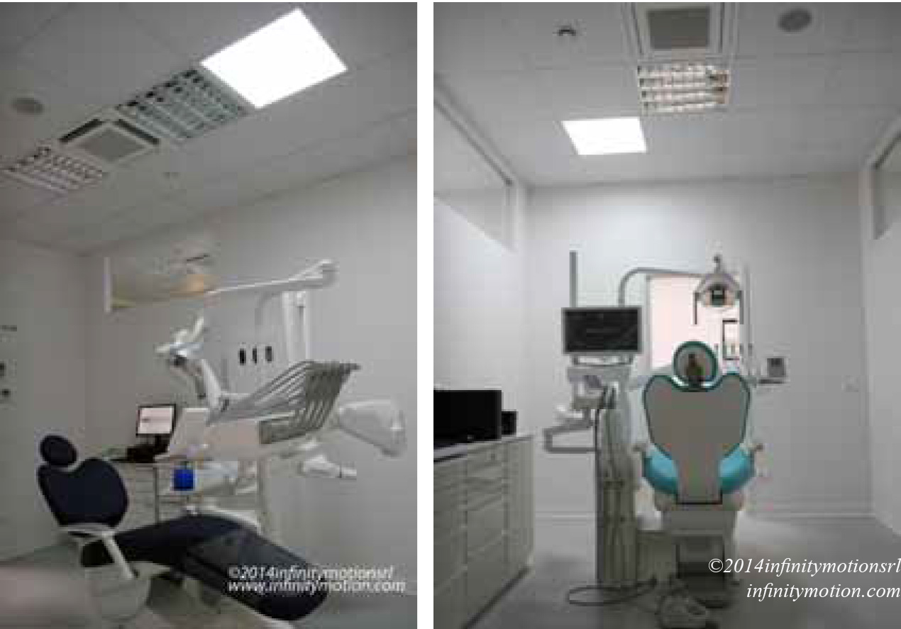 SolaMaster solar diffusers in the dental office