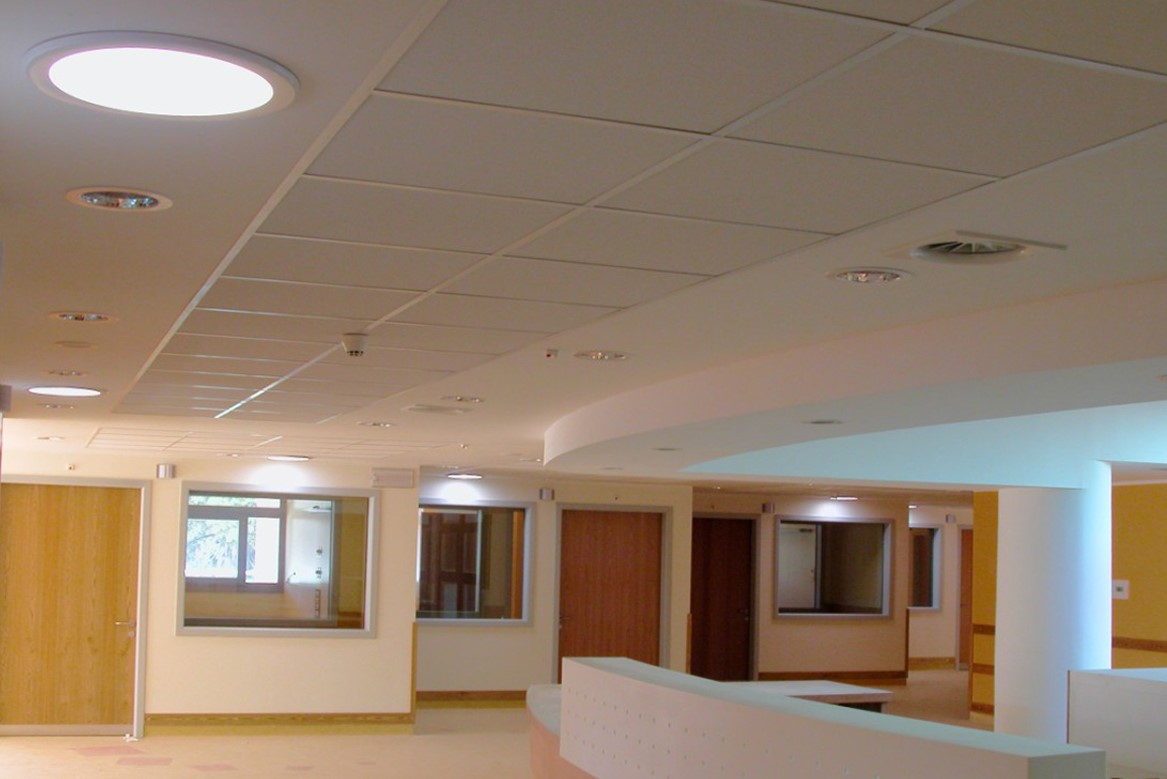 Brighten Up Infinity Motion solar diffusers installed to illuminate the hospital