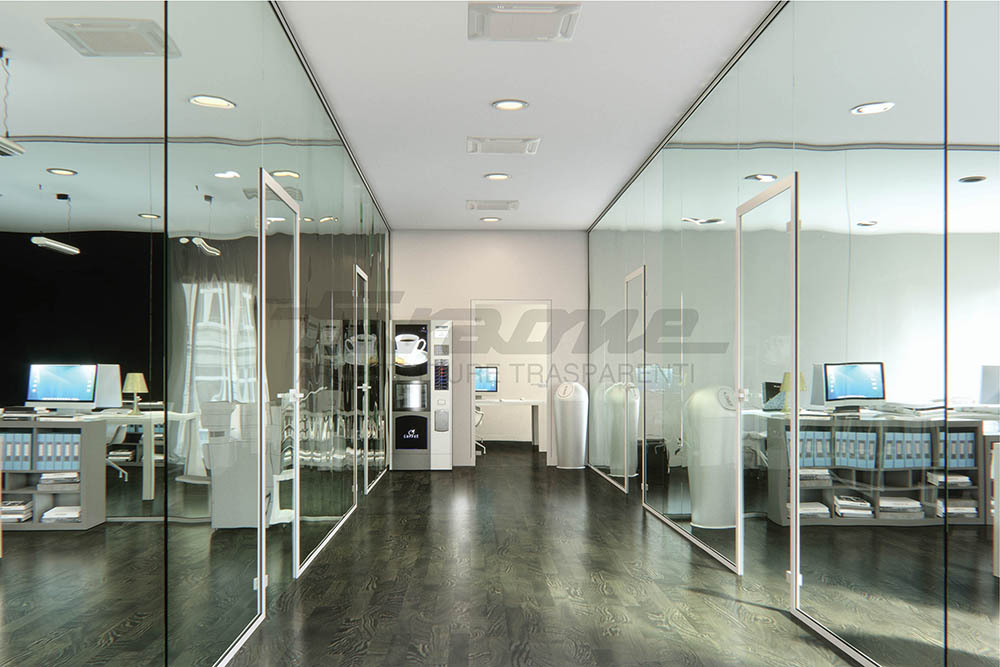 Office with Faraone glass partition walls