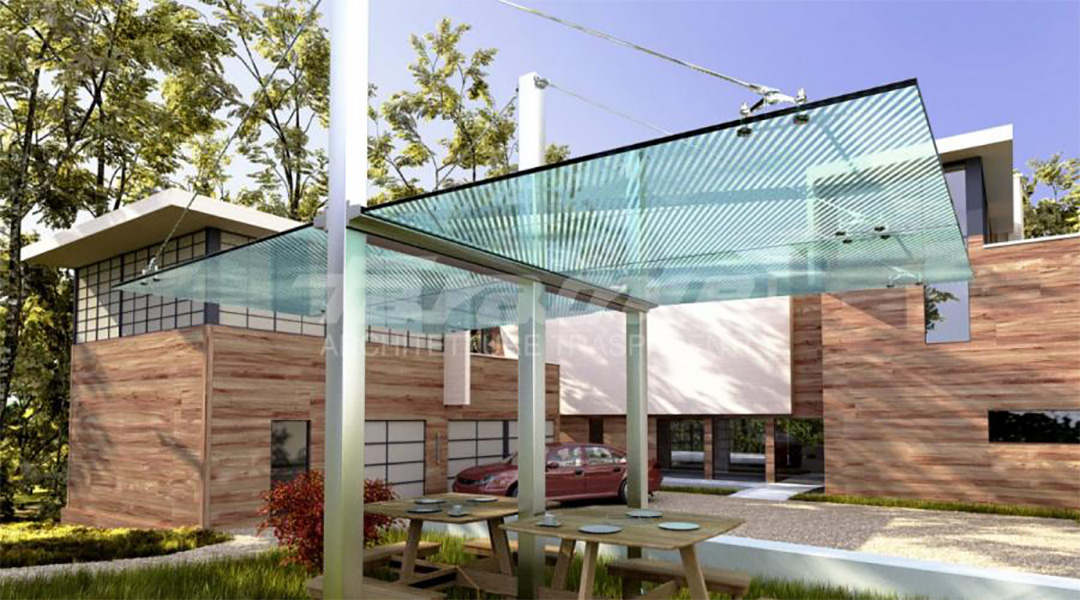 Render Faraone transparent glass shelter