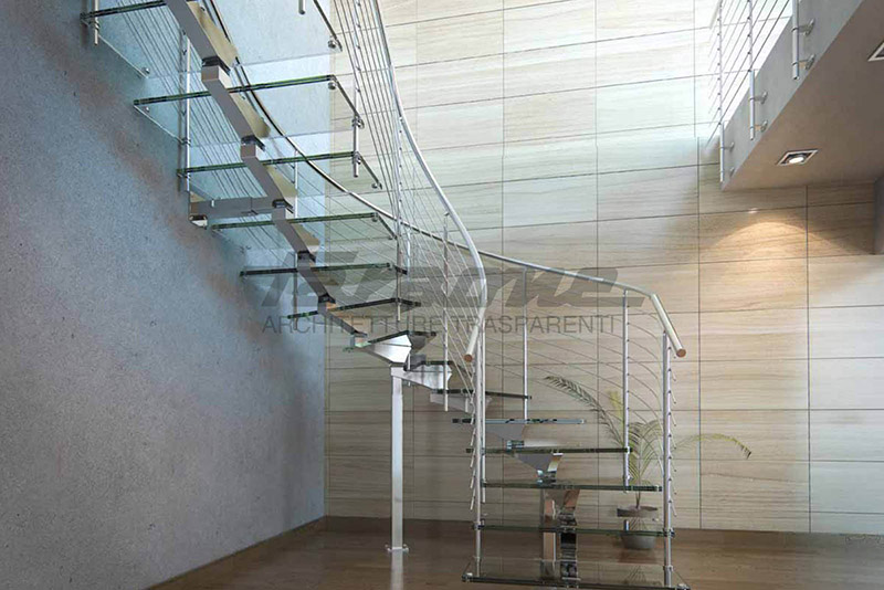 Faraone Mistral glass staircase