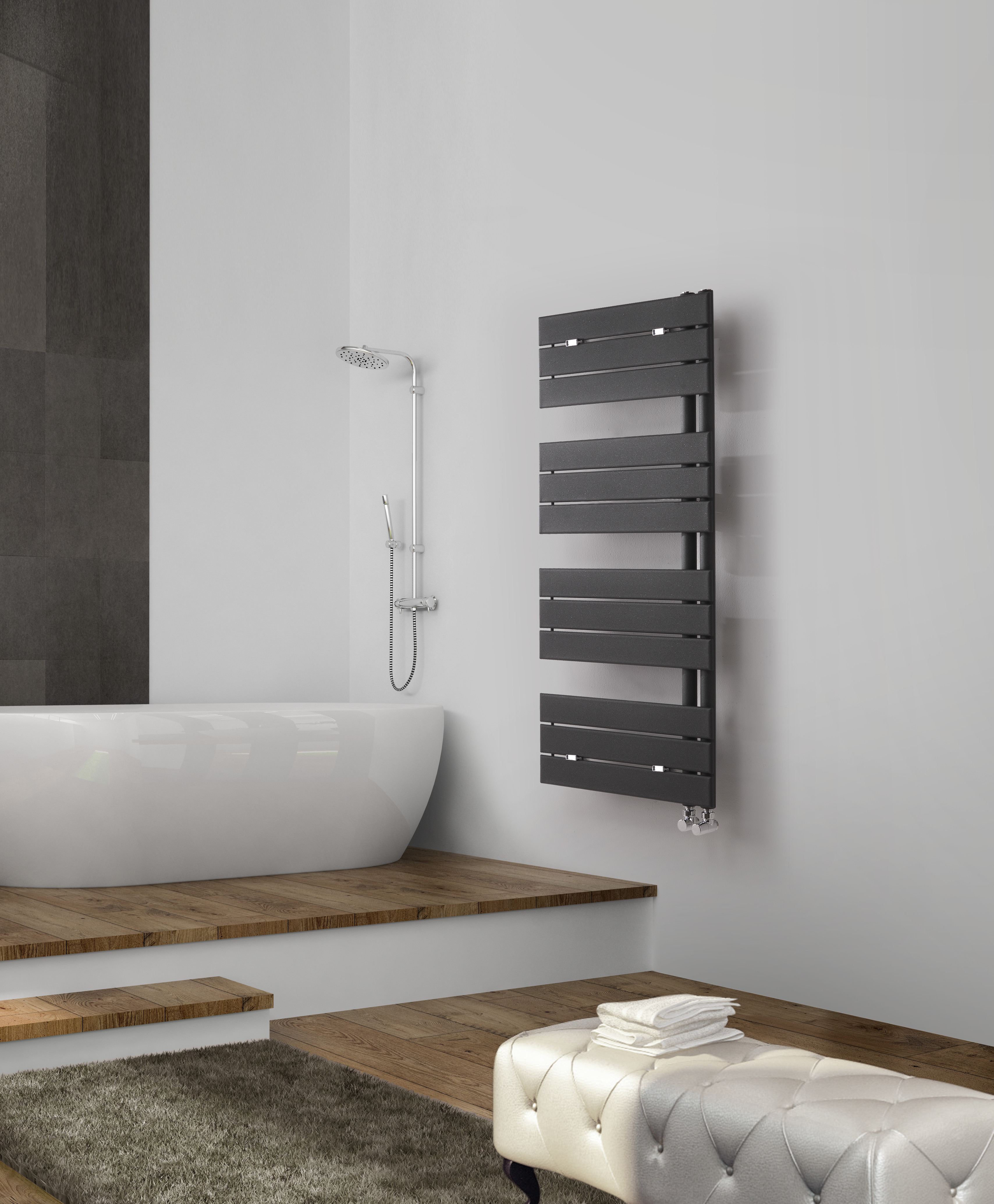 Deltacalor hydraulic heated towel rail