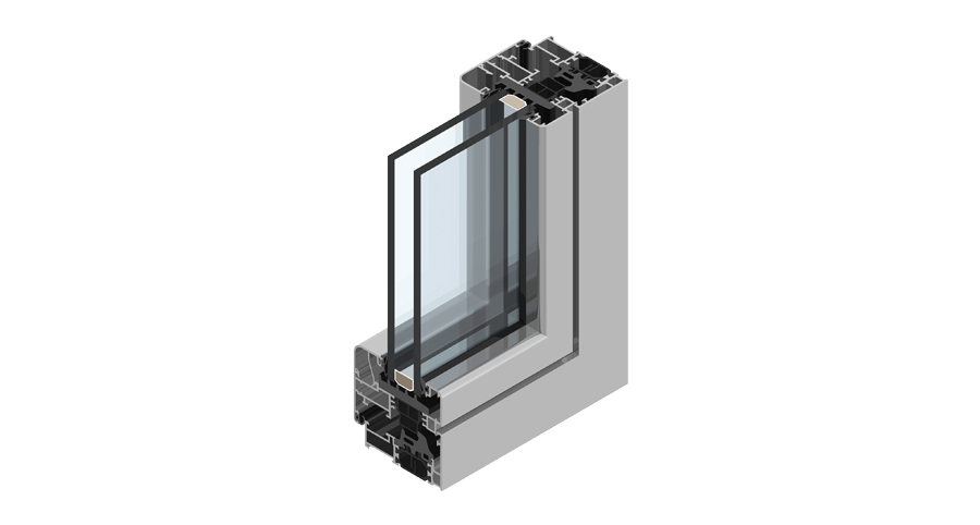 Domal aluminum window section