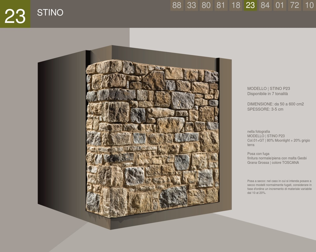 Stino Profile Squared Stone Cladding