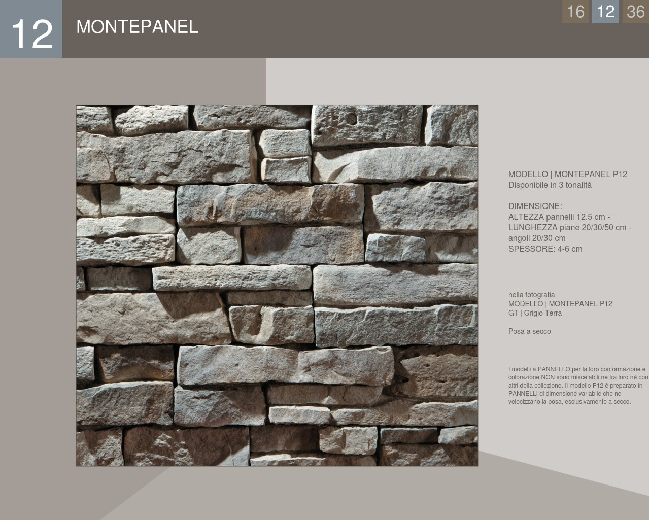 Stone Covering Panel Profile Montepanel model