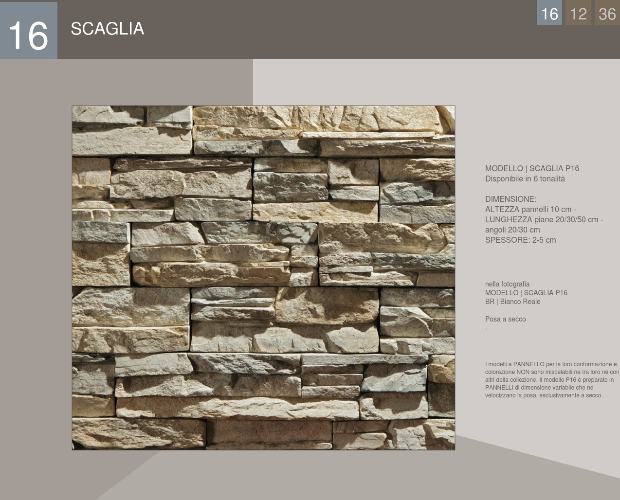 Stone Scaglia Profile Panel Cover