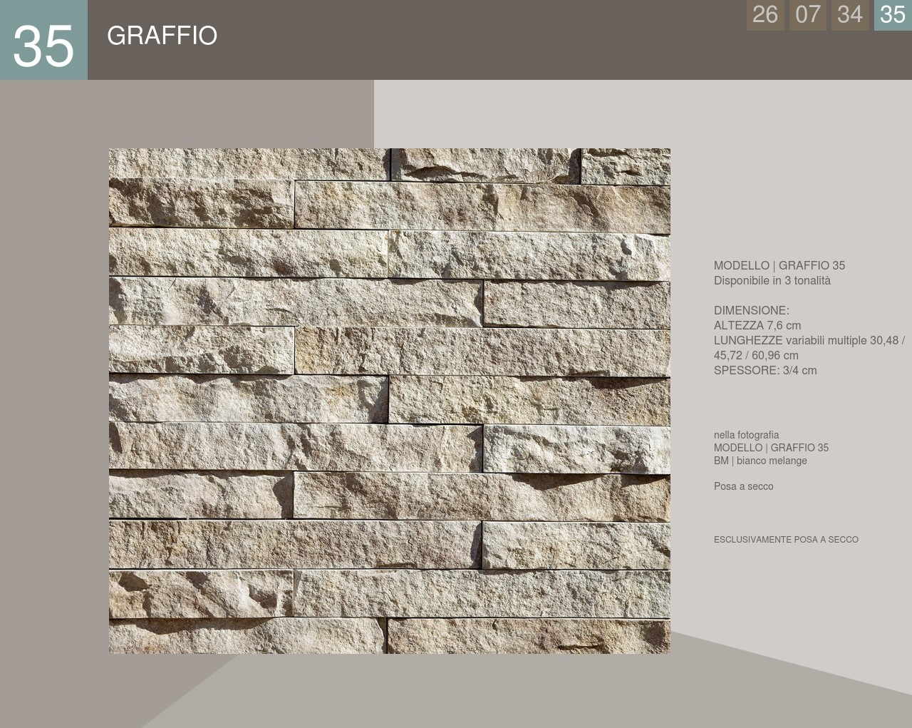 Stone cladding Castle profile Graffio model