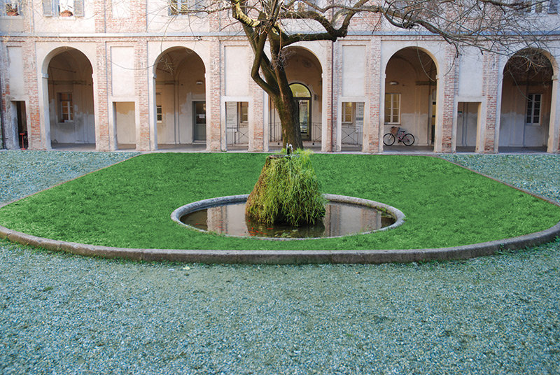 Green area made with Bacchi granules