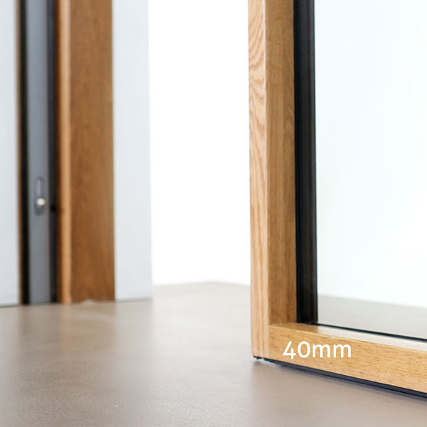 Light wooden frames with a patented design