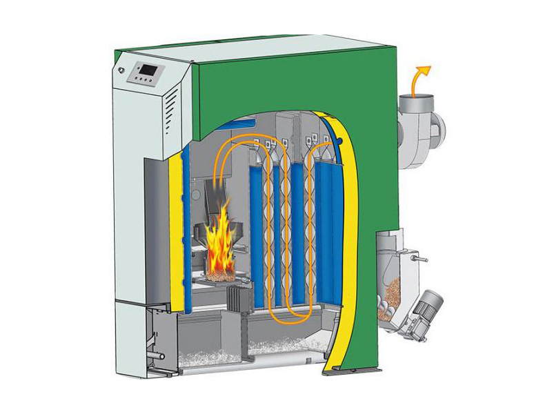 Easy to use and modern design for pellet boilers
