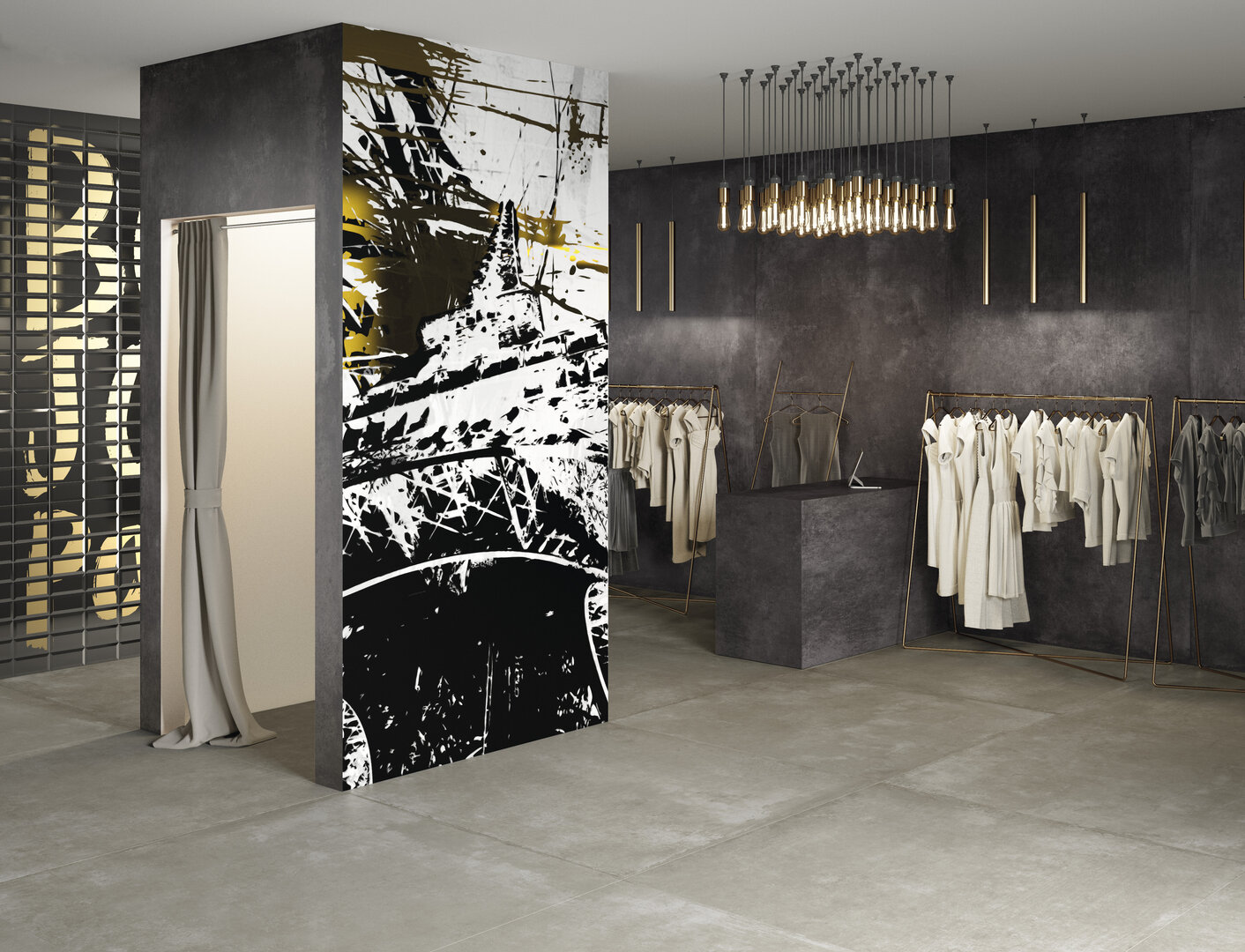 Decorazione on demand per lastre ceramiche Iris