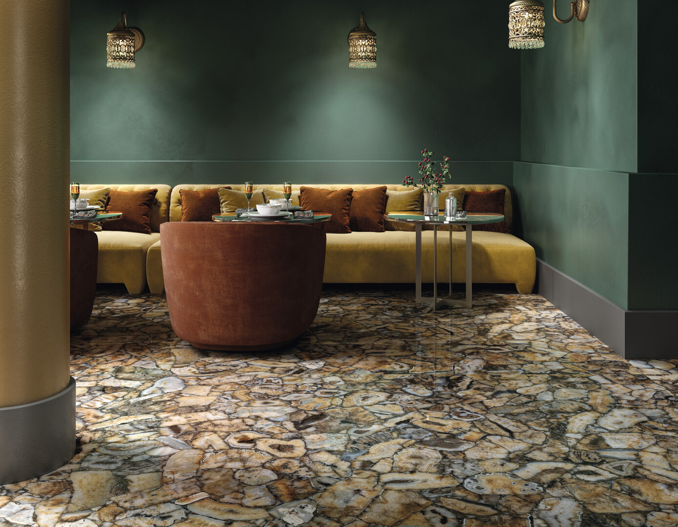 Large surfaces for interior design Iris