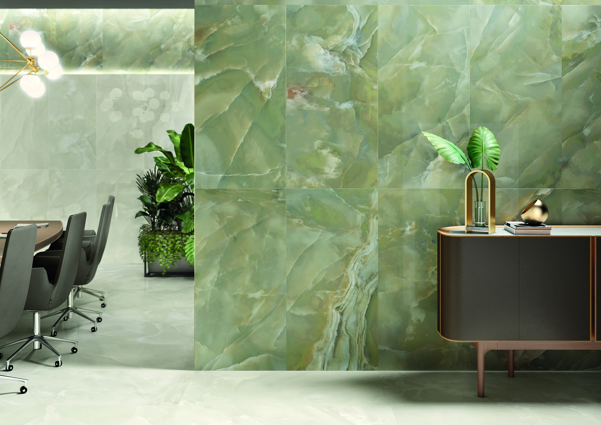 Marble effect porcelain stoneware