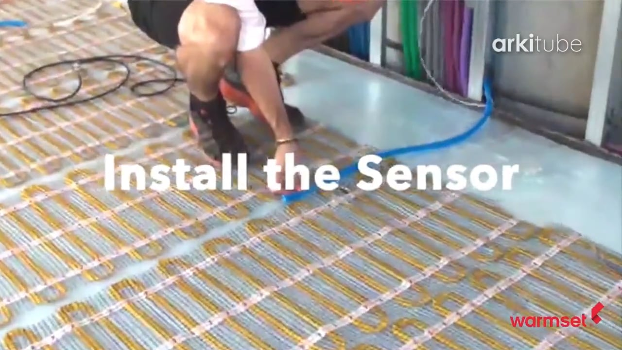 Floor heating sistem: example of laying