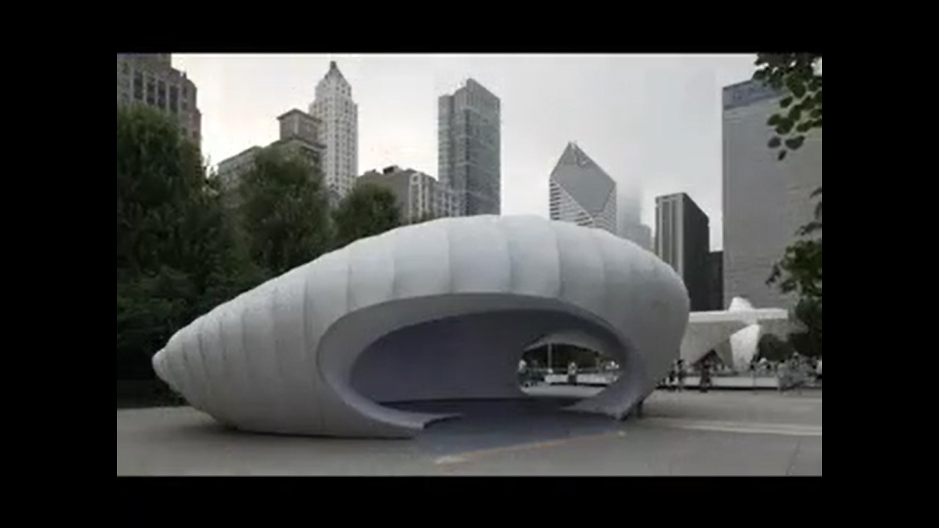 temporary pavilion  in Chicago