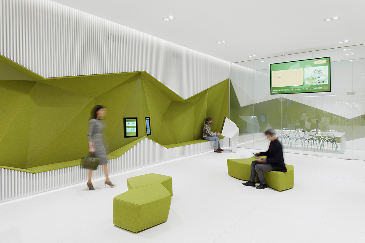 office bank concept interior design