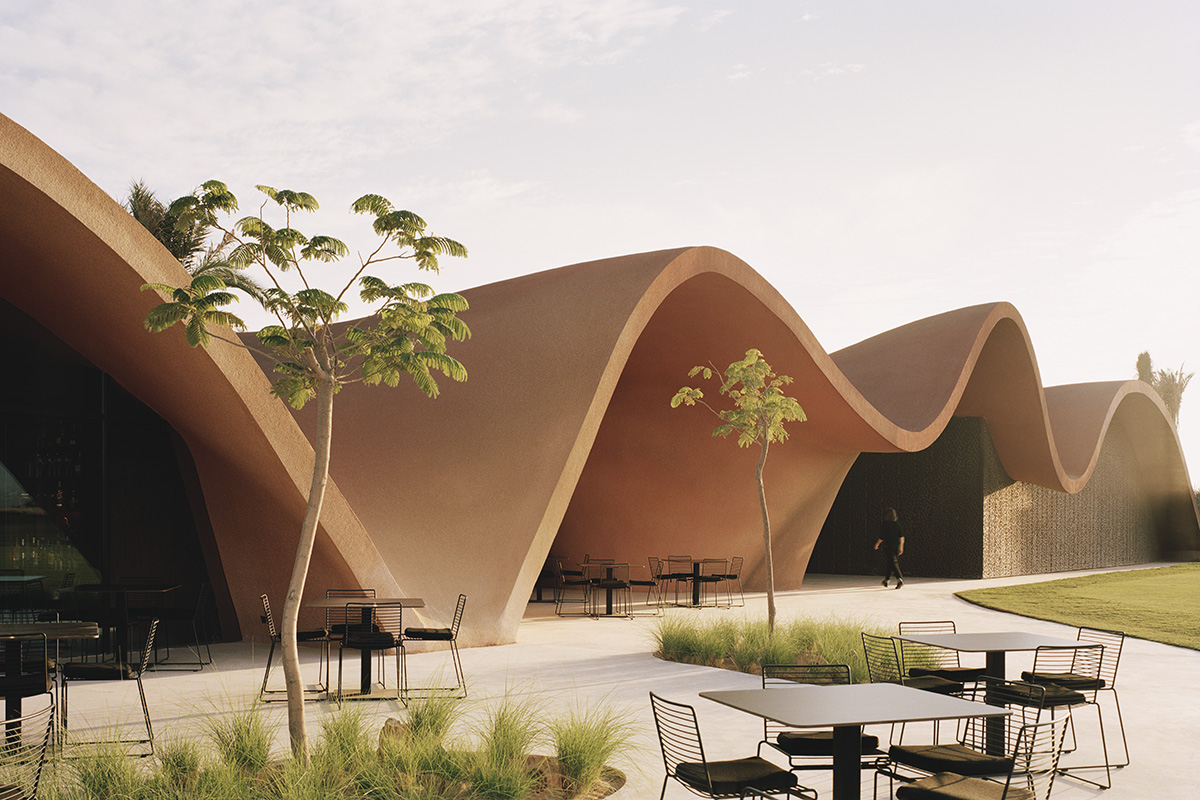 Resort with organic architecture