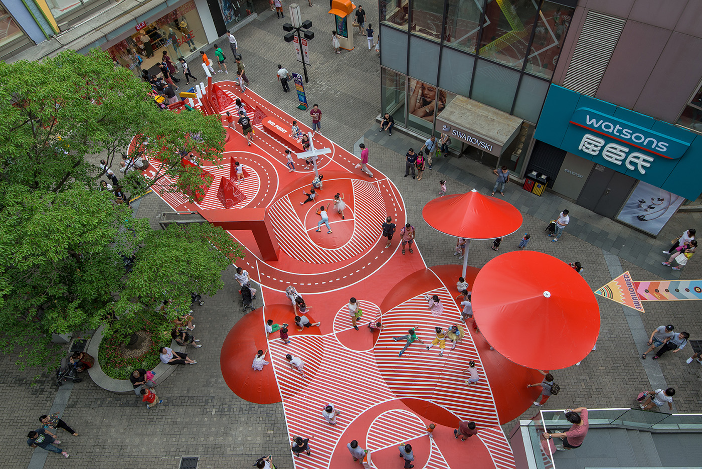 Red public space