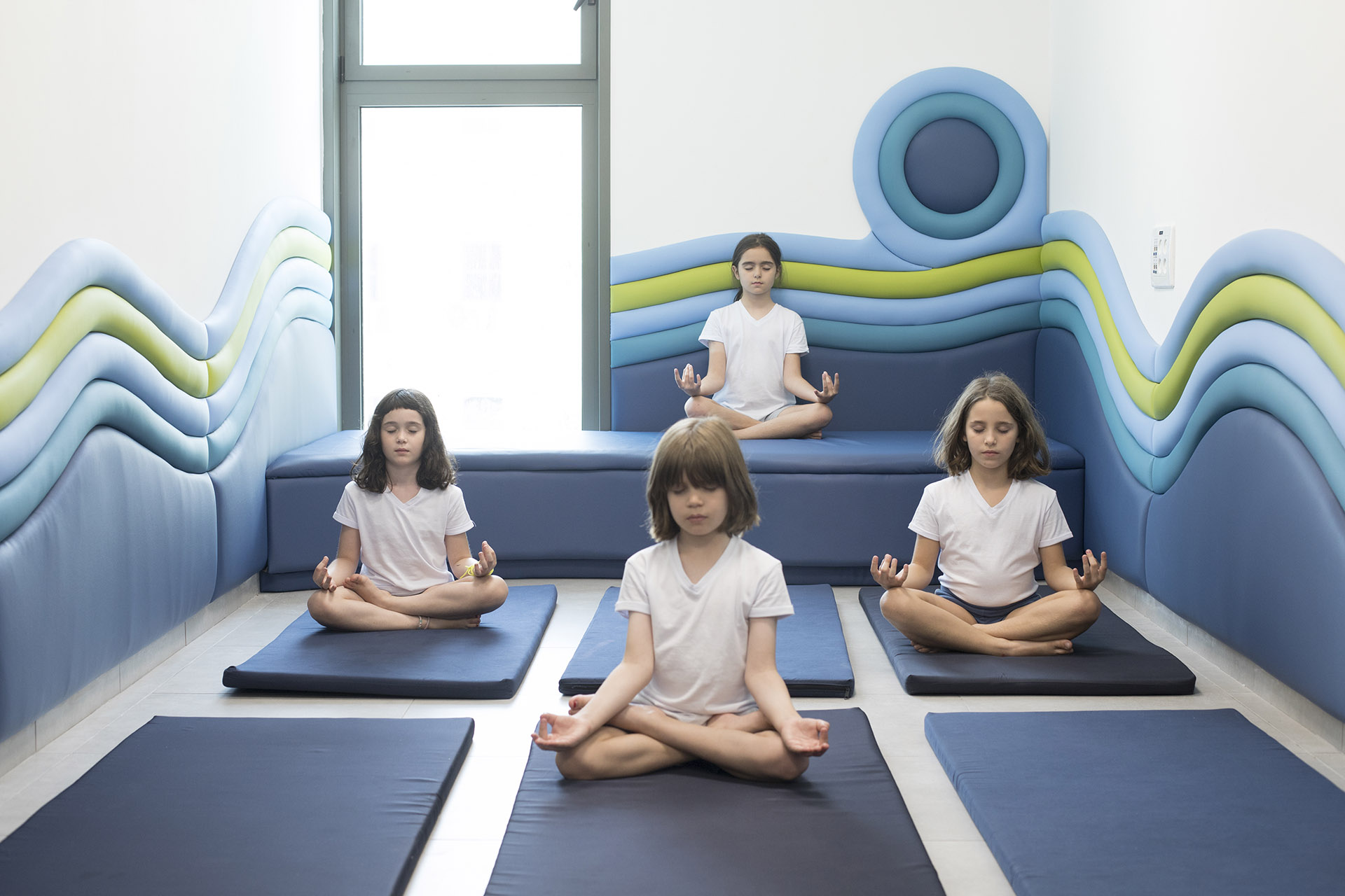 school inclusive color yoga room